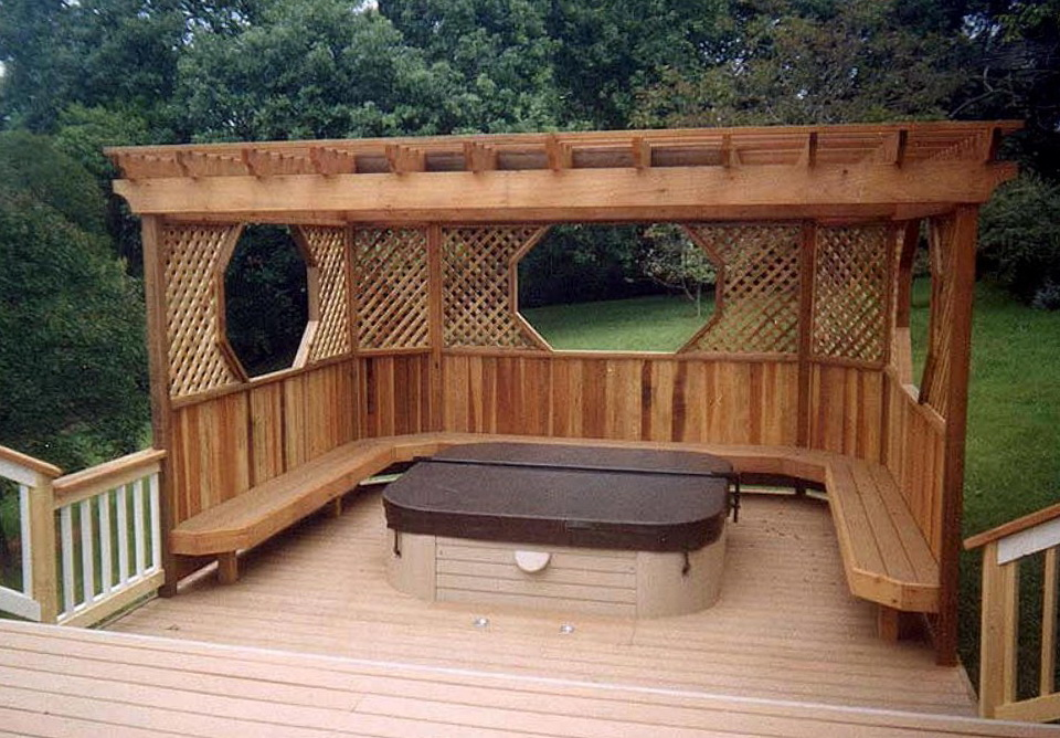 Hot tub decks plans home design ideas for Hot tub deck designs plans
