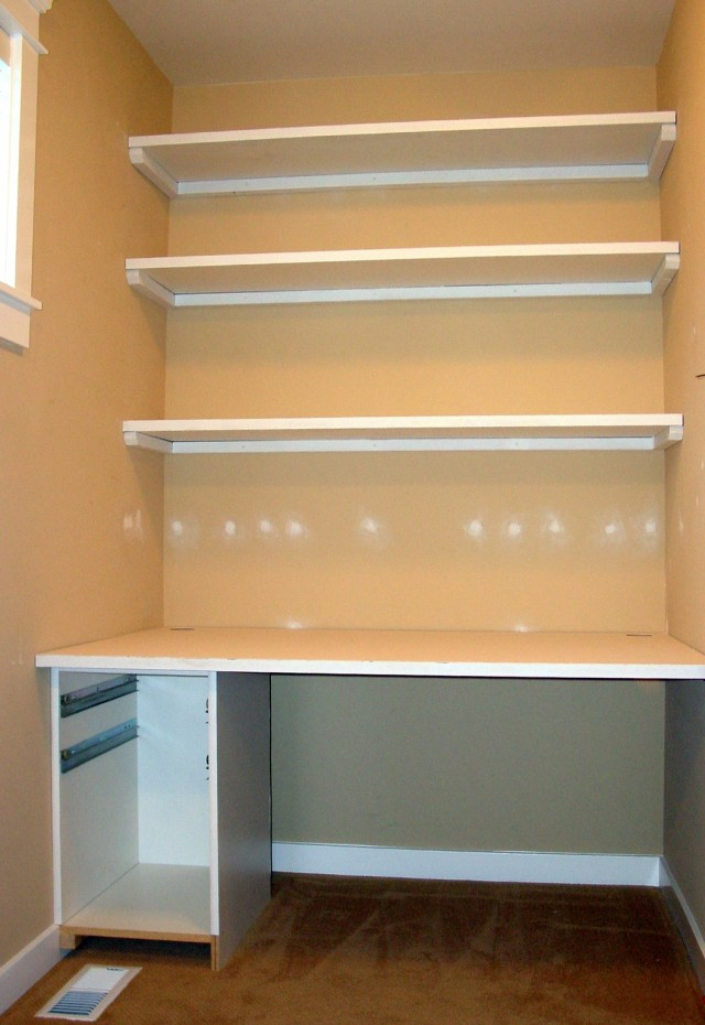 How To Build Desk In Closet