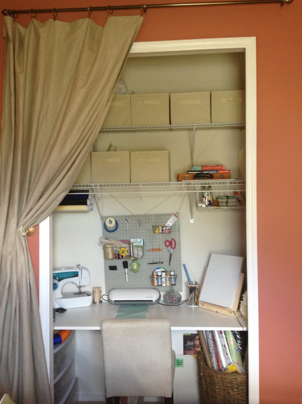 How To Make Desk In Closet