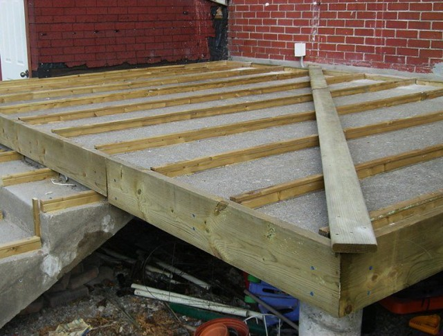 Installing Composite Decking On Concrete