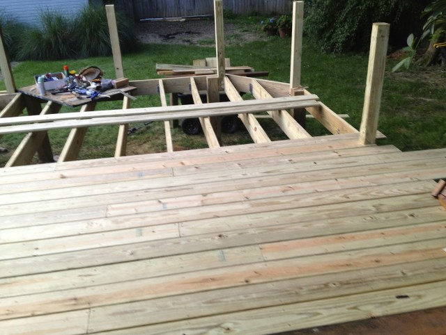 Laying Deck Boards Straight