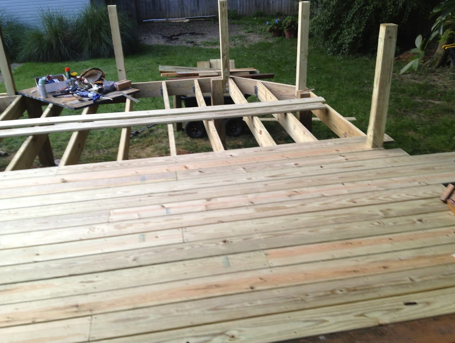 Charming Laying Deck Boards Straight