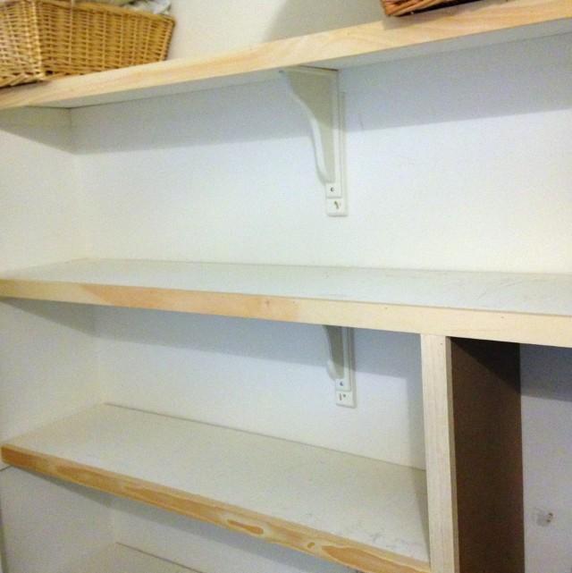 Linen Closet Shelving Depth