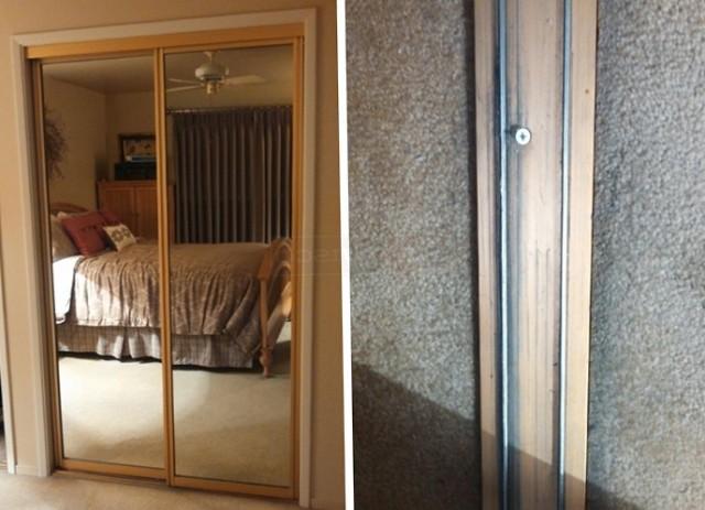 Mirror Closet Door Track