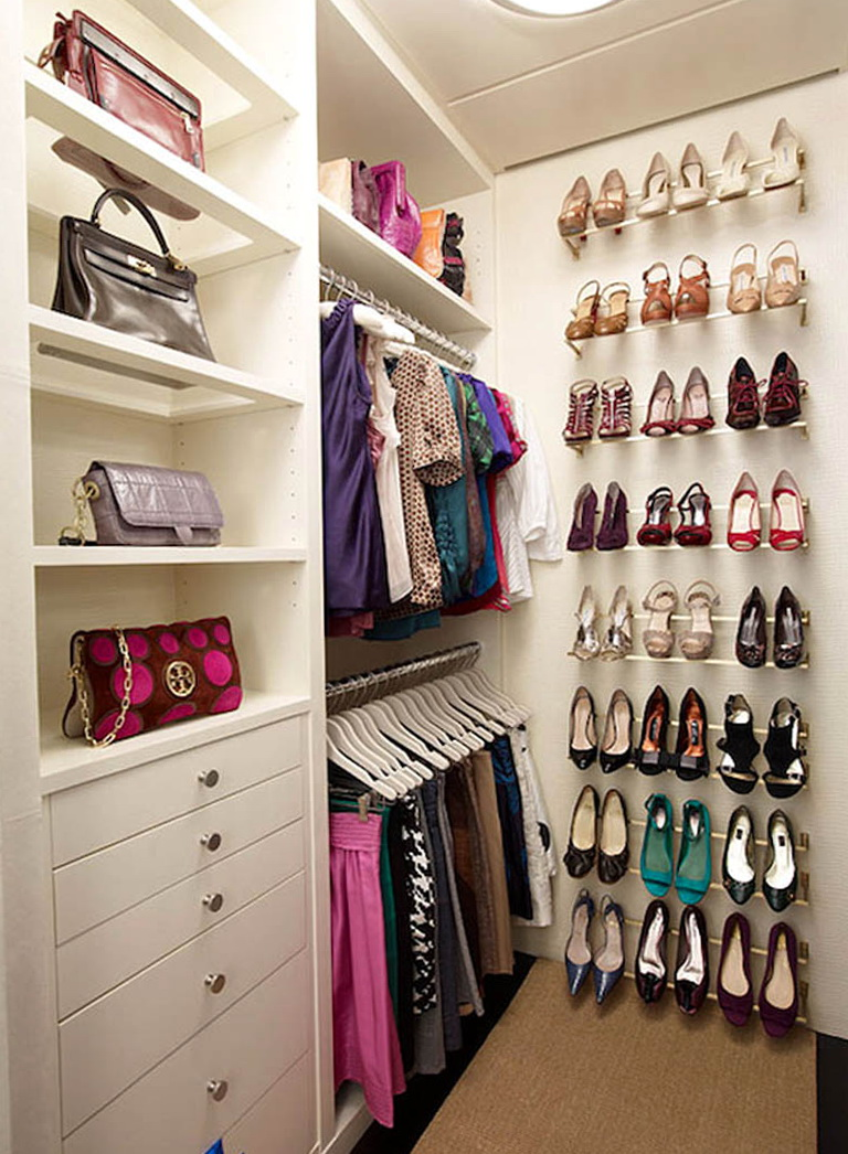 Now that you've purged your closet of items you never wear and put away off-season clothing, you should have more space to work with, and it's important to make the most of it.