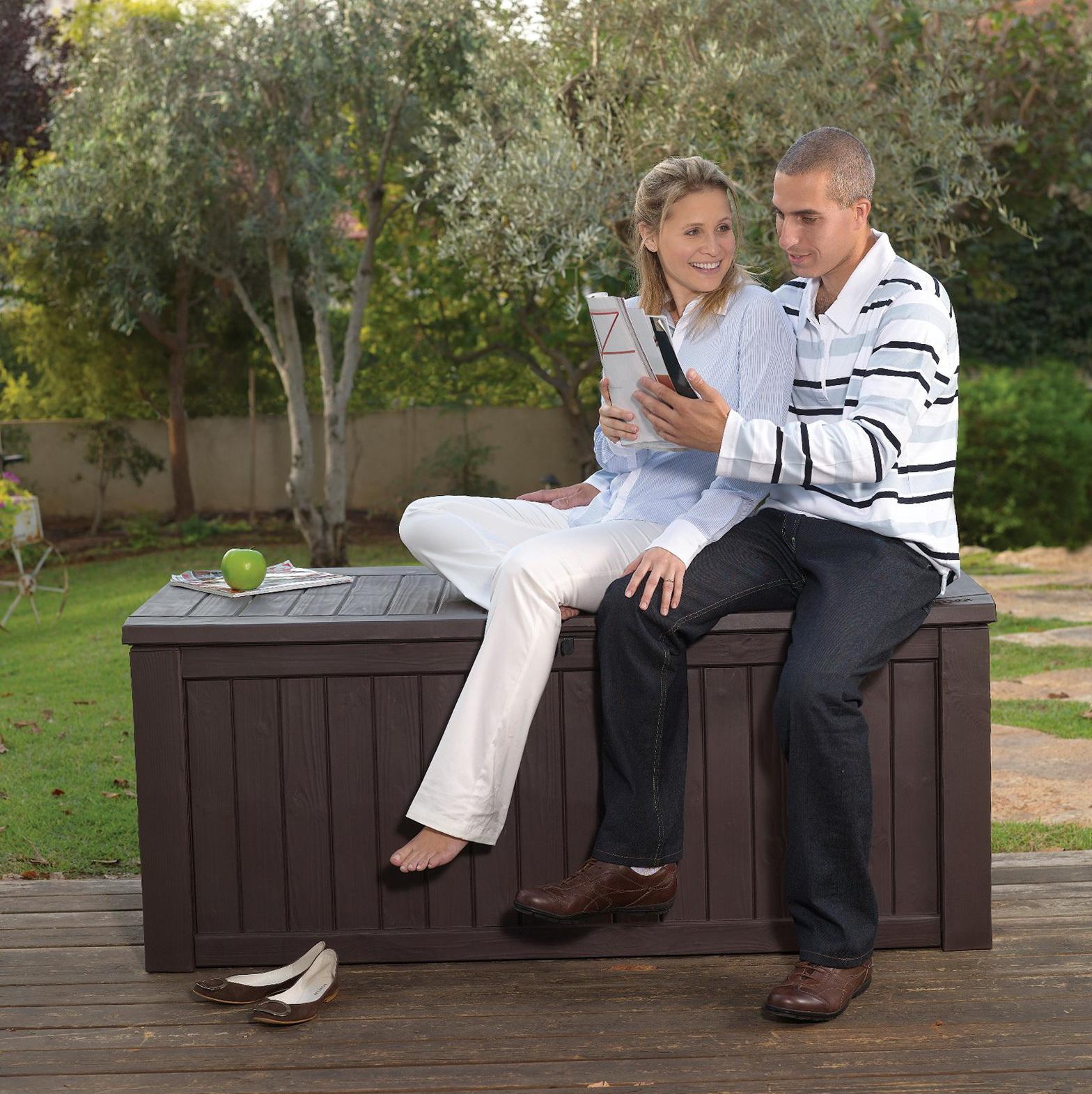 Outdoor Deck Box Bench