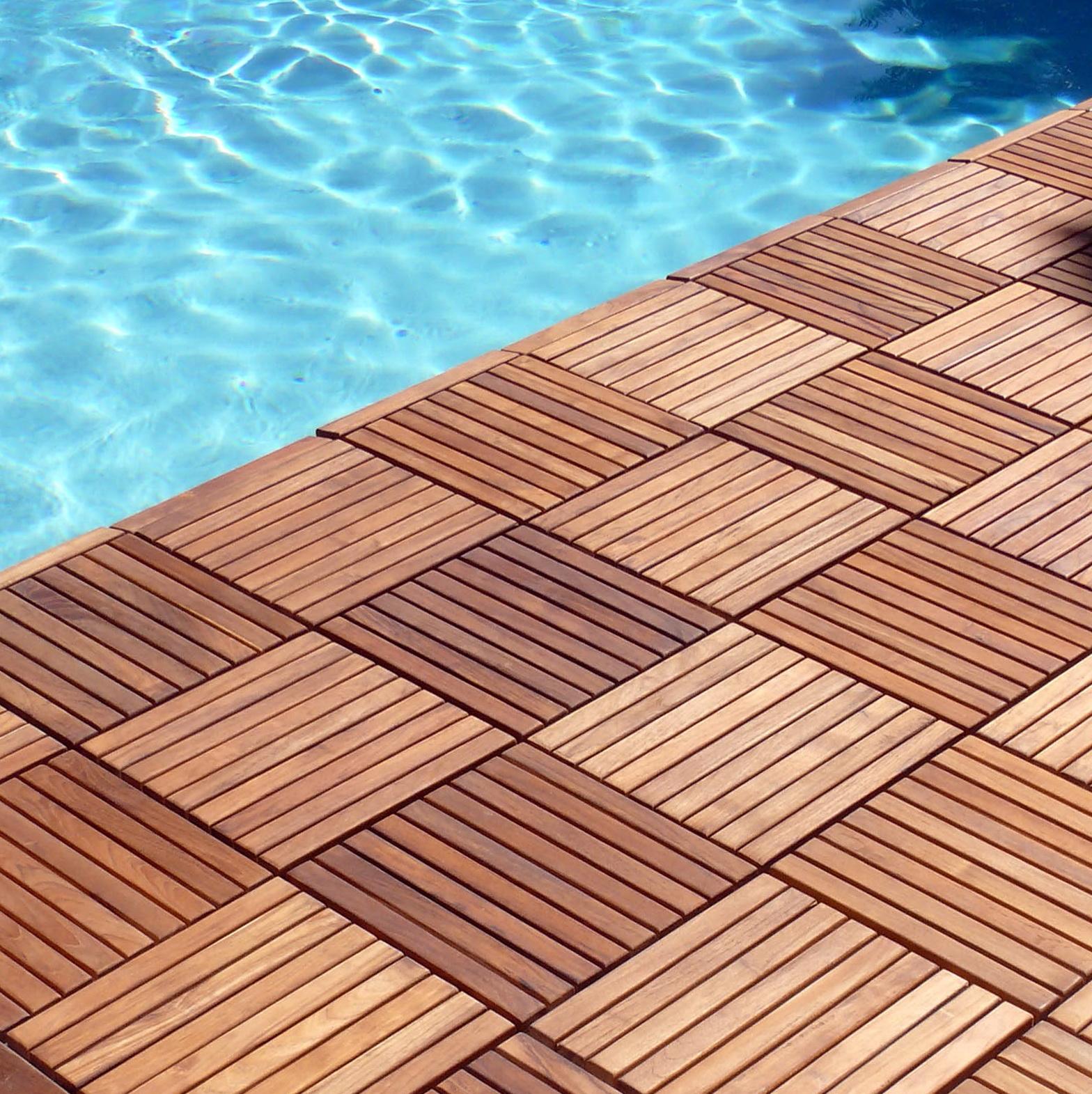 Outdoor Wooden Deck Tiles
