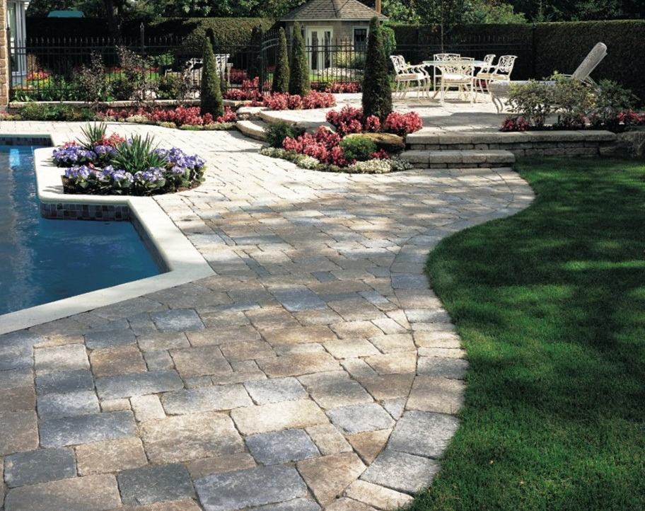 Pavers Around Pool Deck Home Design Ideas