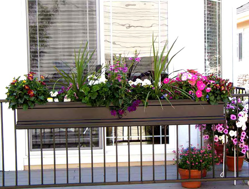 Plastic Deck Railing Planter Boxes