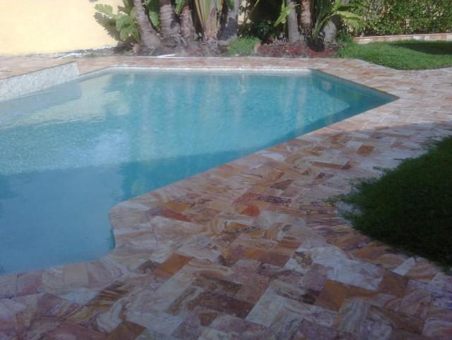 Acrylic Pool Deck Vs Pavers Home Design Ideas
