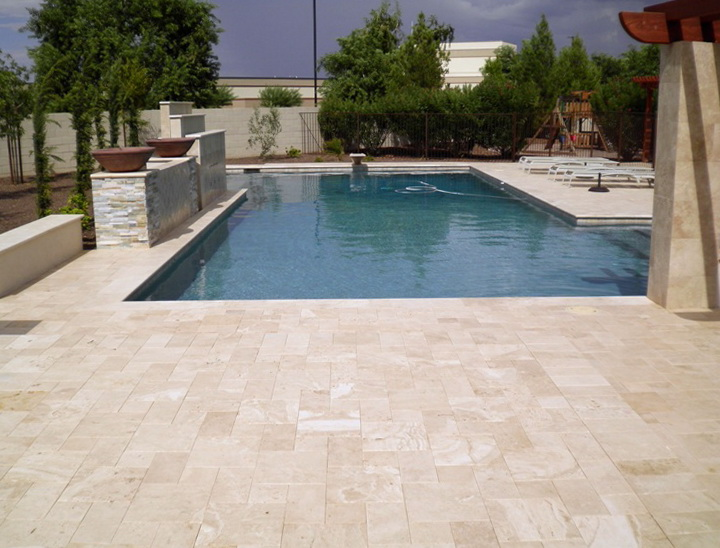 Pool Deck Travertine Pavers Or Kool Deck Home Design Ideas