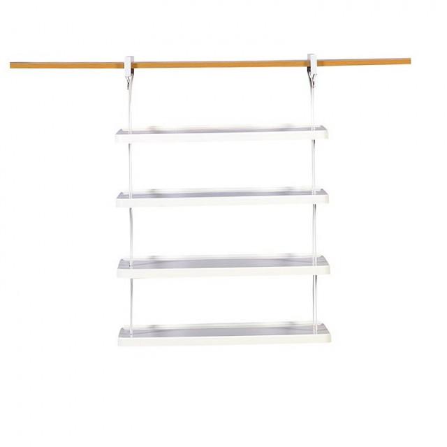 Rubbermaid Closet Helper 4 Shelf Rack