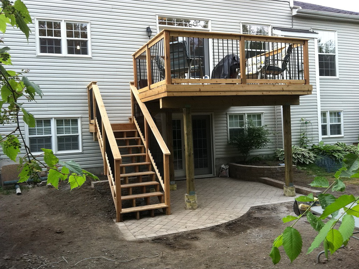 Second story deck plans home design ideas for Deck designer