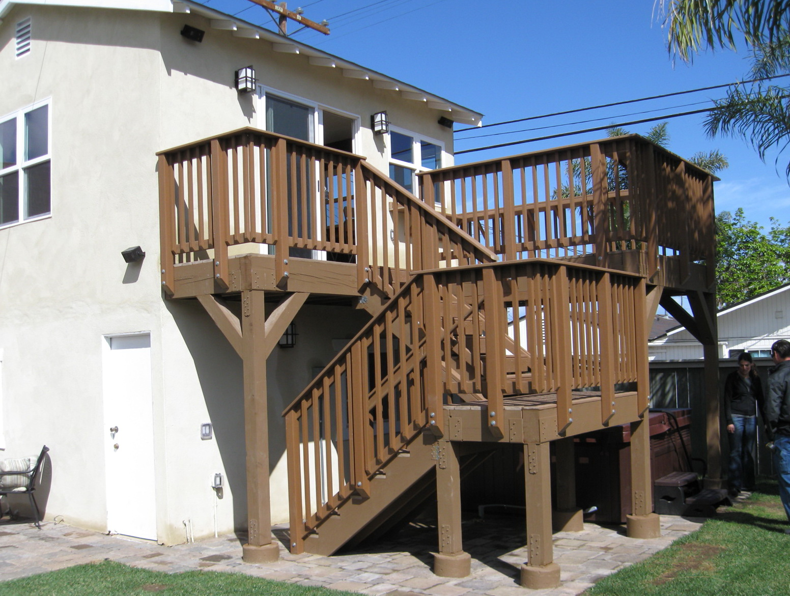second story deck stair designs home design ideas