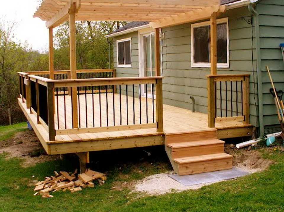 Small deck designs ideas home design ideas for House plans with decks