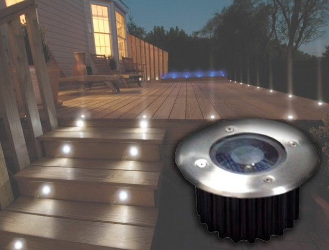 Solar Powered Deck Lights Uk & White Solar Deck Lights | Home Design Ideas