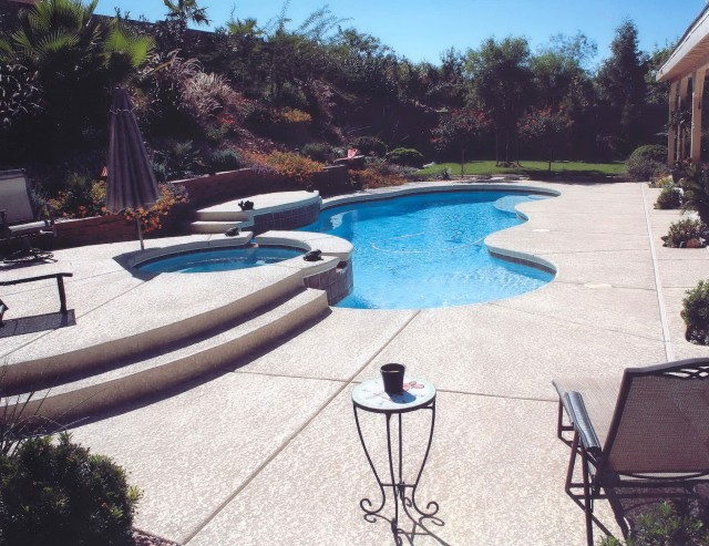 Stamped Concrete Pool Deck Maintenance