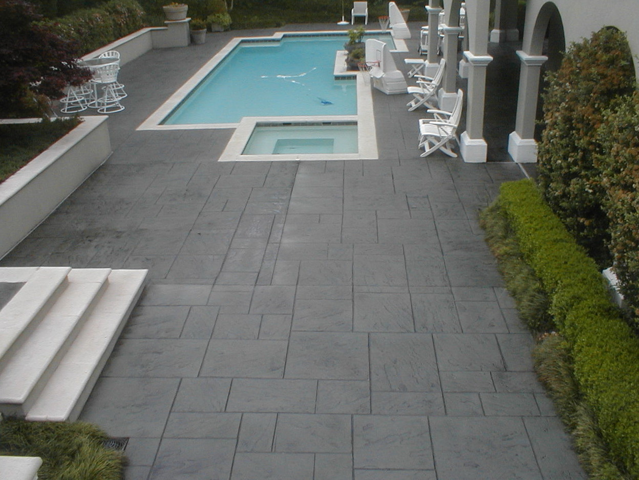 Stamped Concrete Pool Deck Sealer
