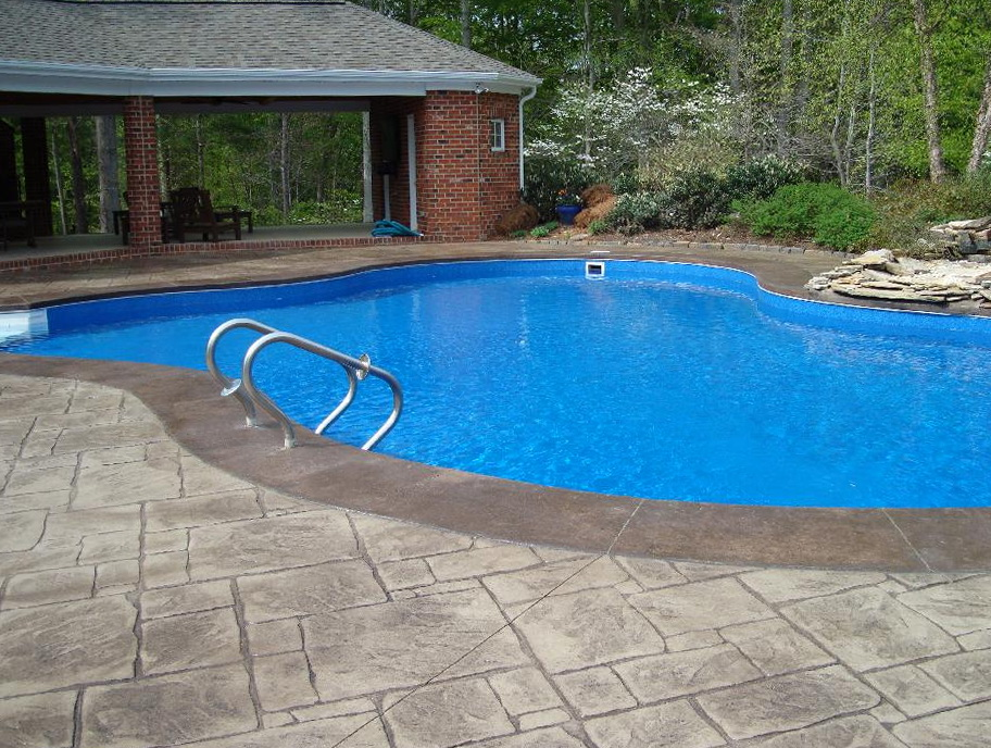 Stamped Concrete Pool Decks Photos