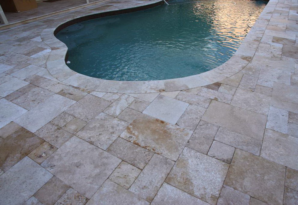 Travertine Pavers For Pool Decking Home Design Ideas