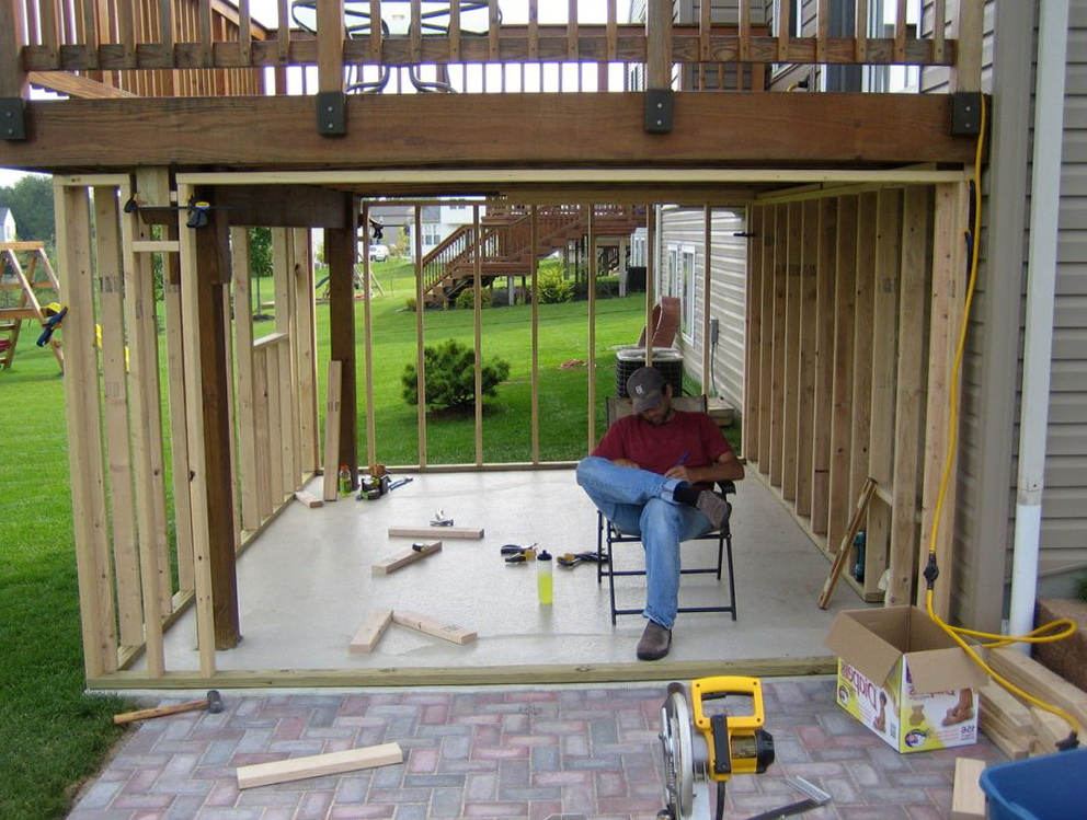 Under Deck Patio Ideas Home Design Ideas