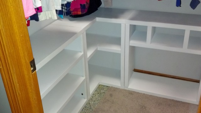 White Closet Organizers Do It Yourself