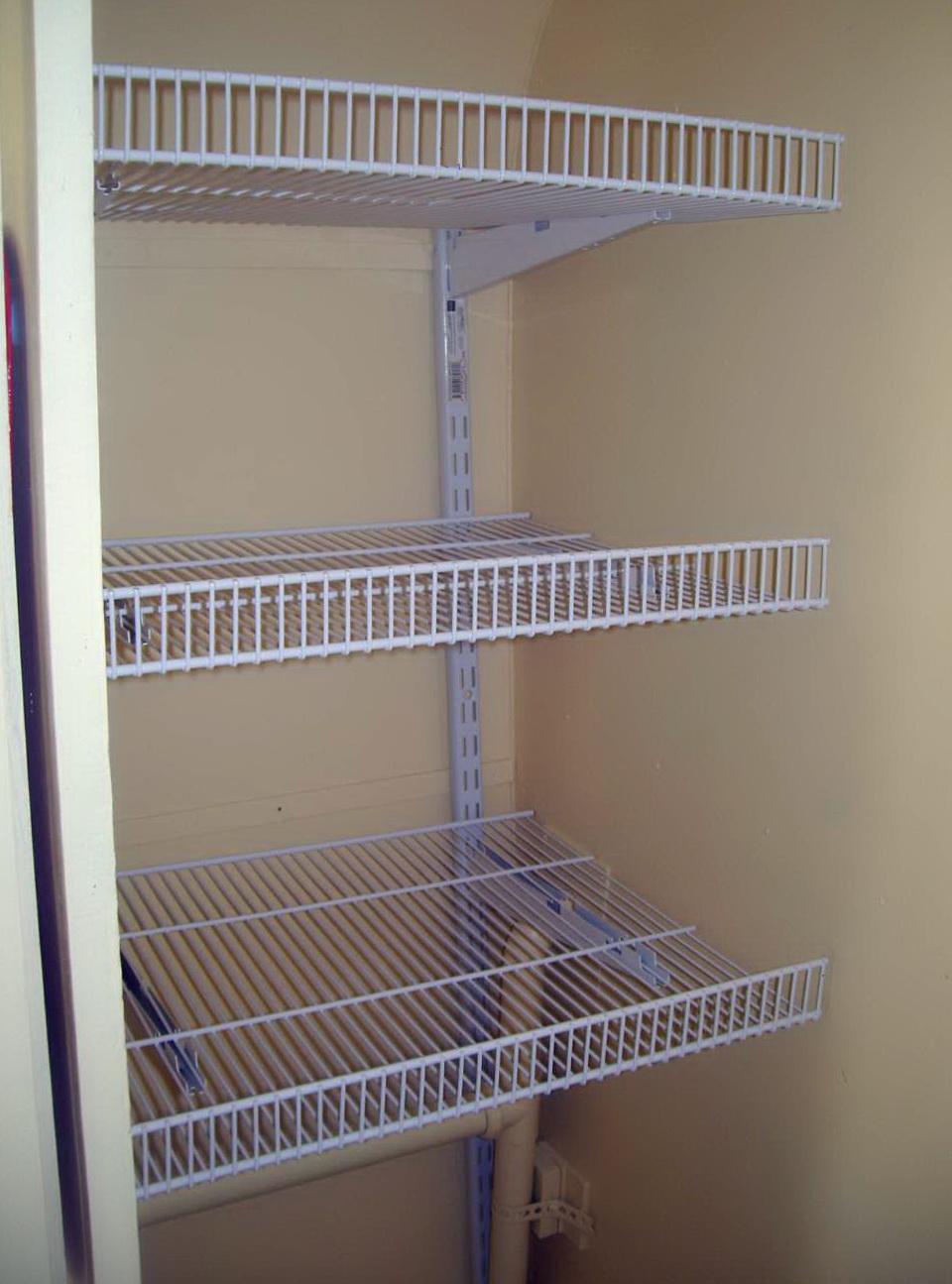 White Metal Closet Shelving