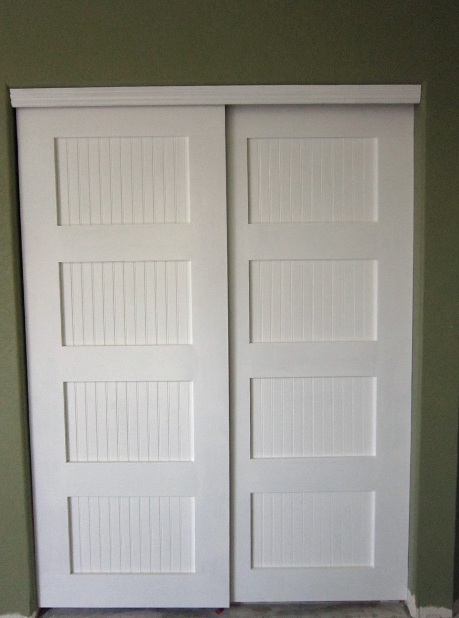 White Panel Closet Doors