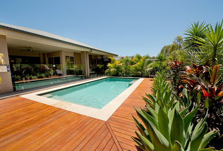 Wood Deck Around Pool