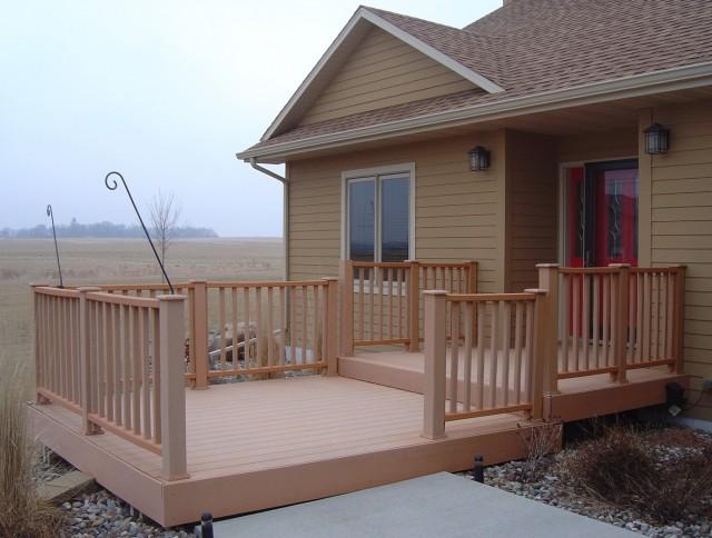 Wood Deck Front Porch Ideas