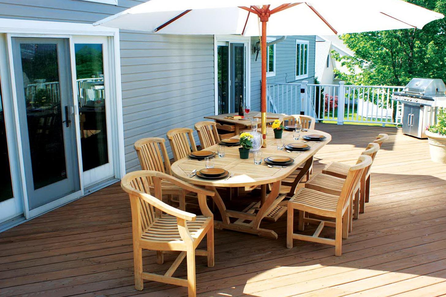 Wood Deck Furniture Ideas