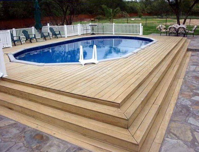 Above ground swimming pool deck ideas home design ideas for Swimming pool patio designs