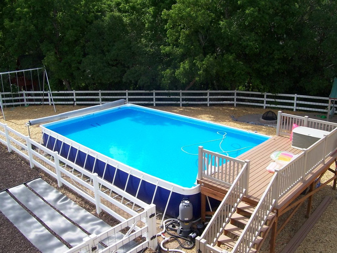 Above ground swimming pool decks plans free home design for Swimming pool plans free