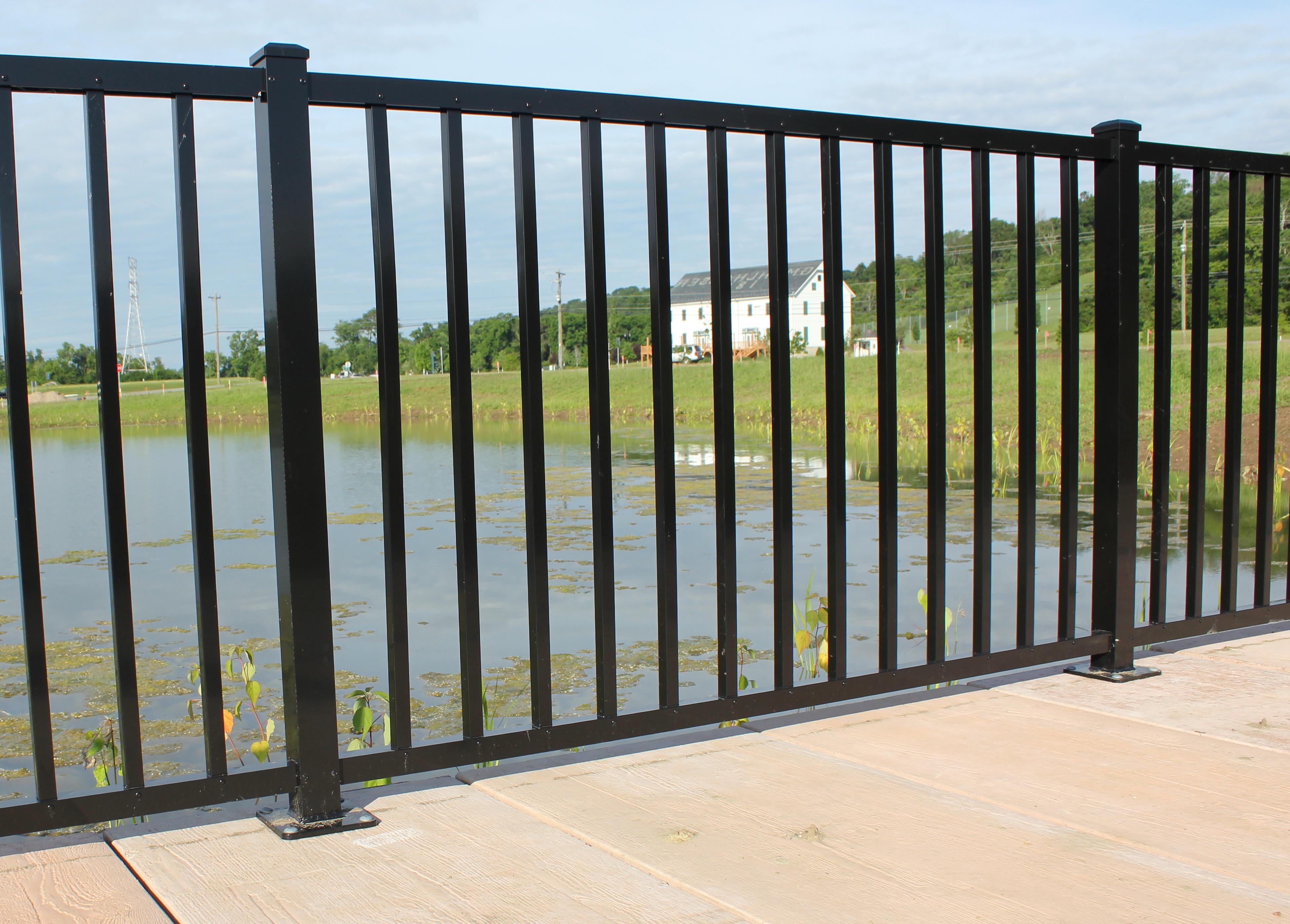 Aluminum deck railing systems lowes home design ideas