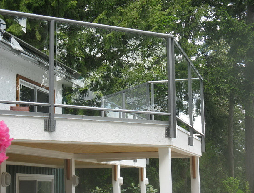 Aluminum Deck Railing With Glass Panels Home Design Ideas