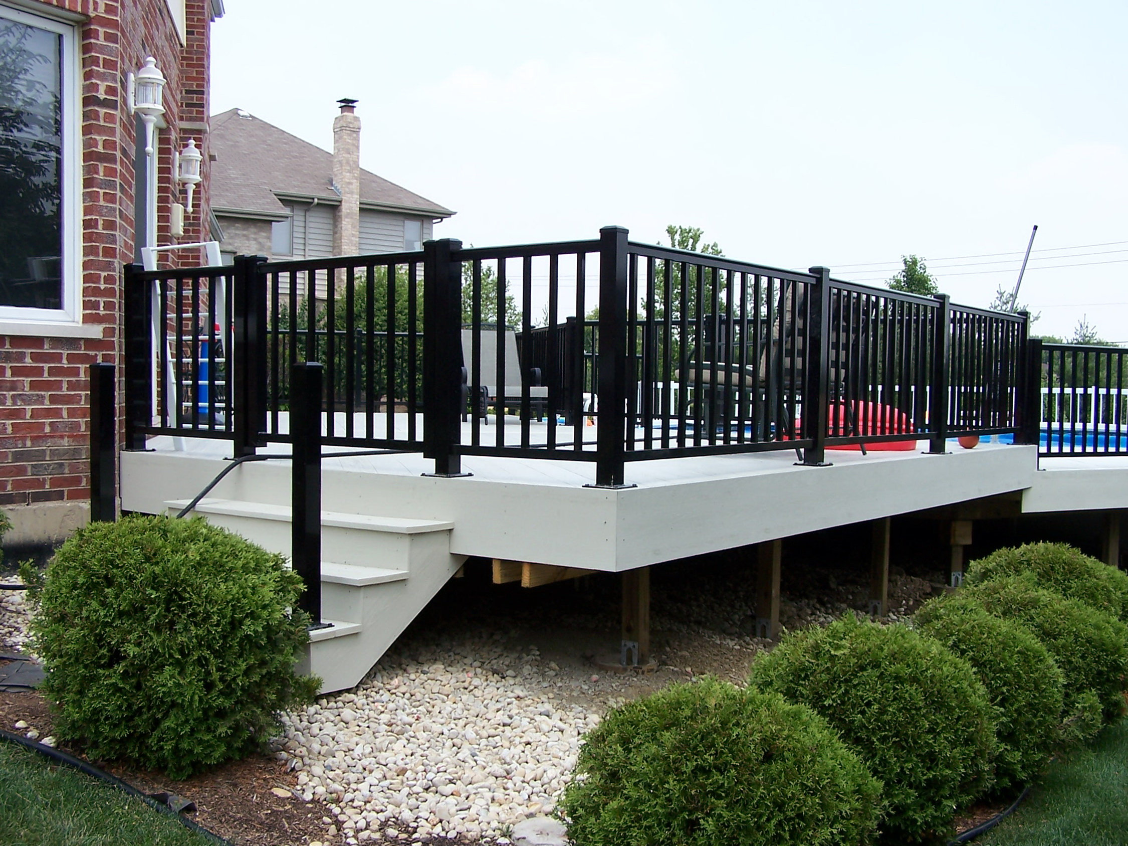 Aluminum Deck Railings Lowes Home Design Ideas