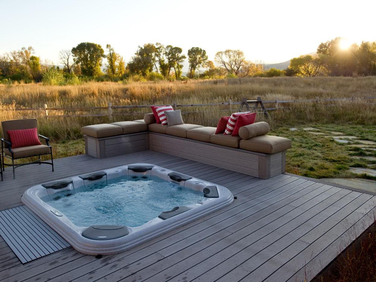 Backyard Deck Hot Tub Ideas Home Design Ideas