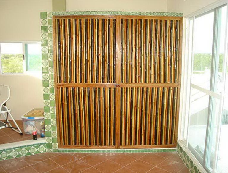 Bamboo Closet Door Curtains Home Design Ideas