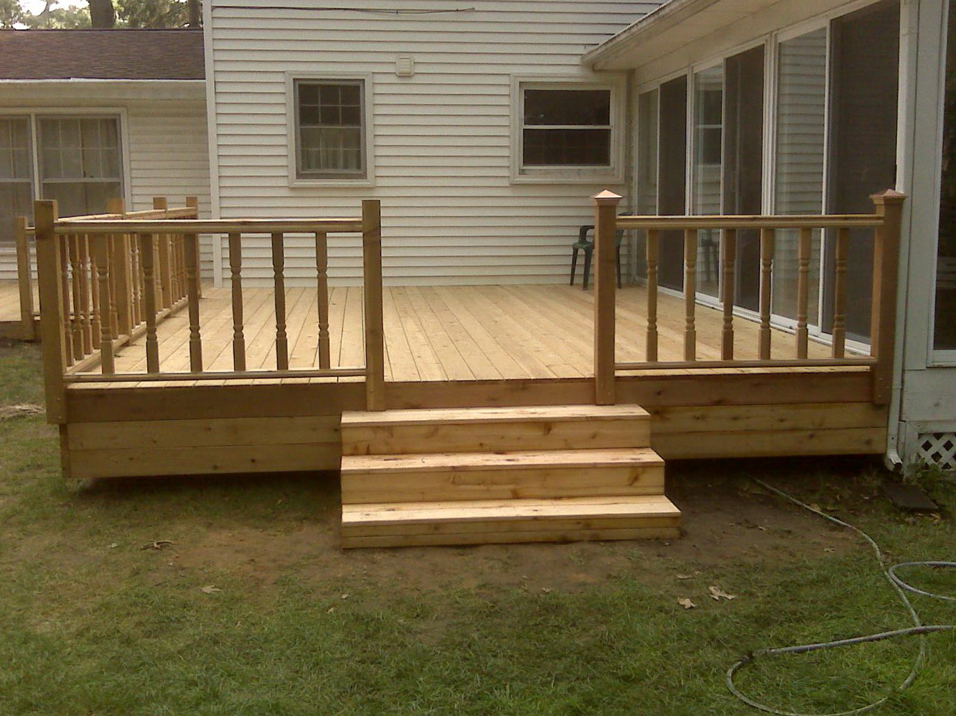 Basic deck plans free home design ideas Wood deck designs free
