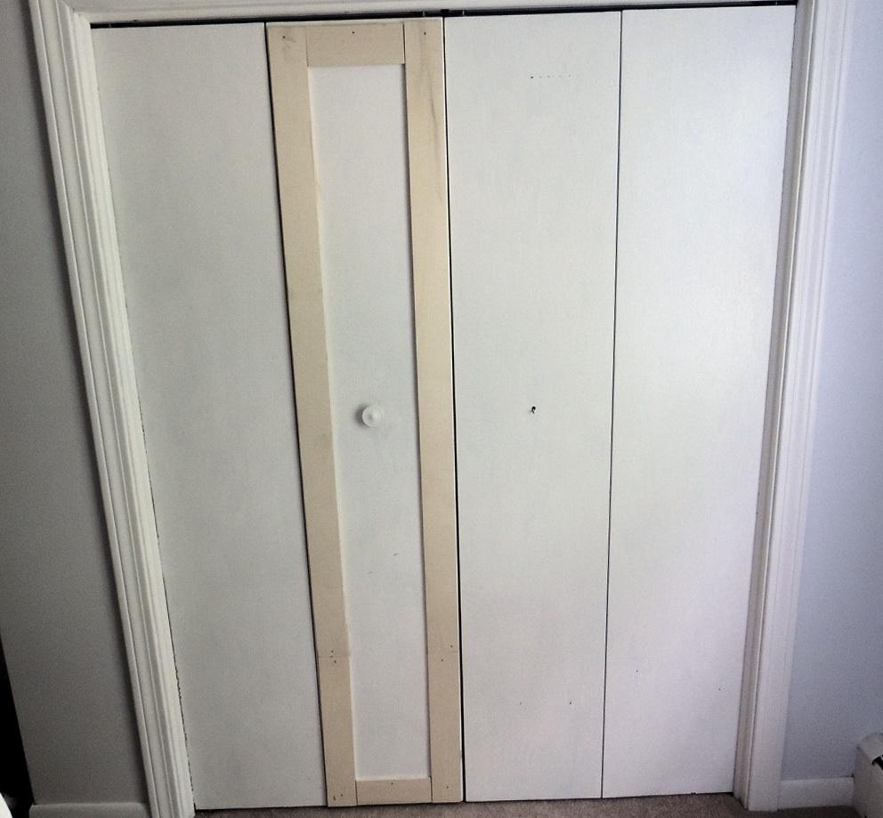 Bifold Closet Door Makeover Home Design Ideas