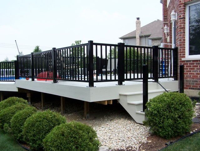 Black Aluminum Deck Railing