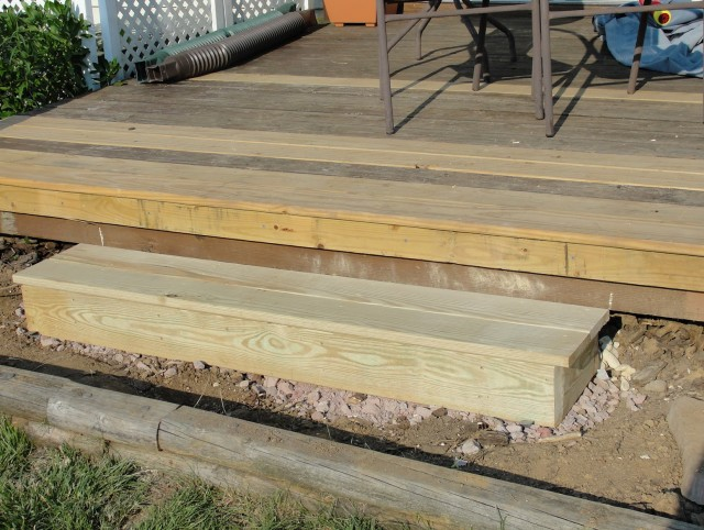 Build Deck Stairs Without Stringers Home Design Ideas