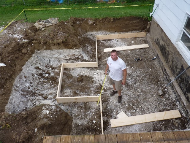 Building A Ground Level Deck Footings
