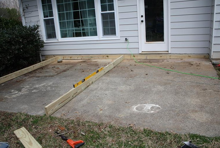 Building A Ground Level Deck On Concrete Home Design Ideas