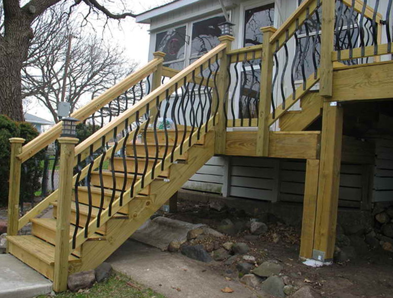 Building Deck Stairs And Railings