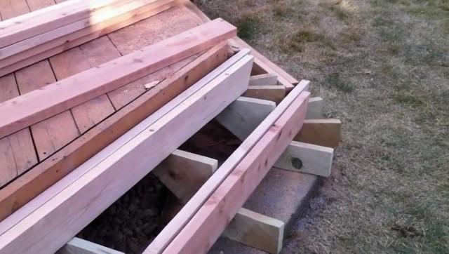 Building Deck Stairs Around A Corner