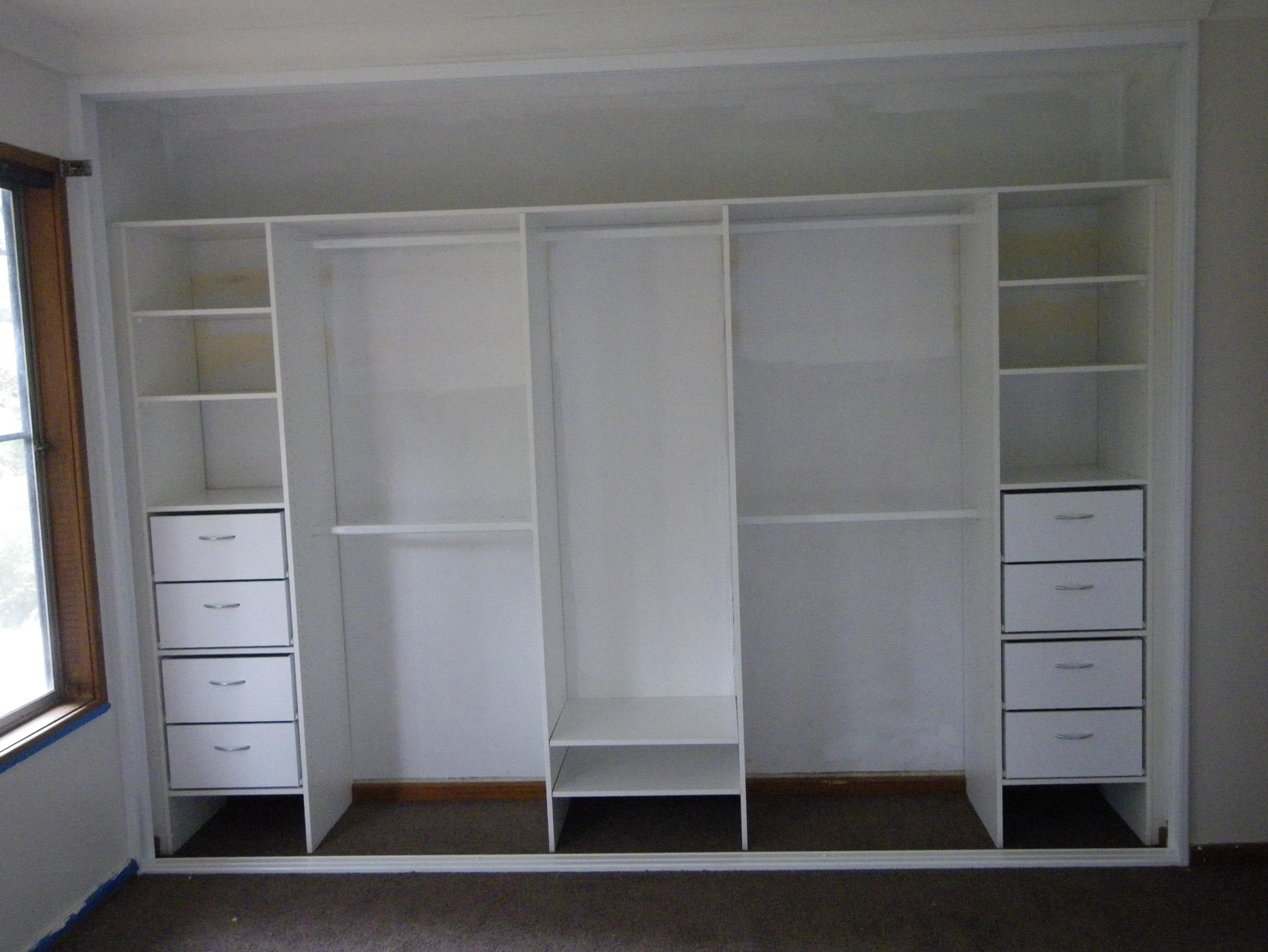 closets into built in decor walk pin integrated closet modern wardrobes
