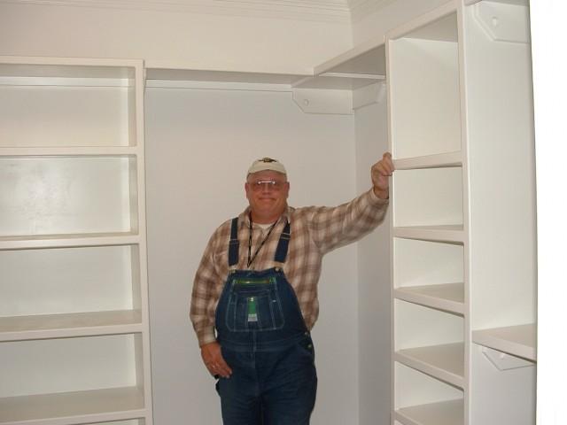 Built In Shelves In Closet