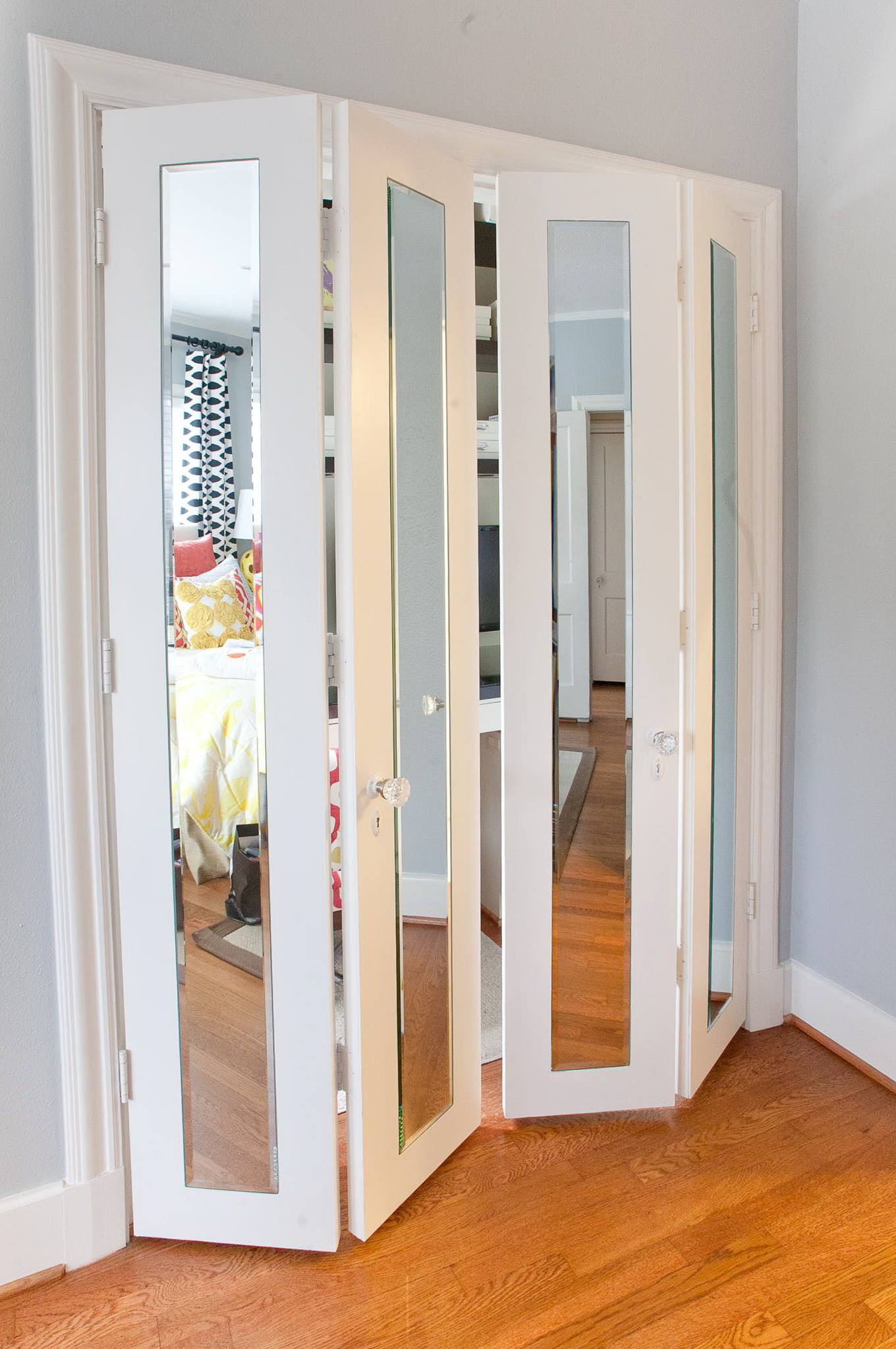 Bypass Mirrored Closet Doors Home Design Ideas