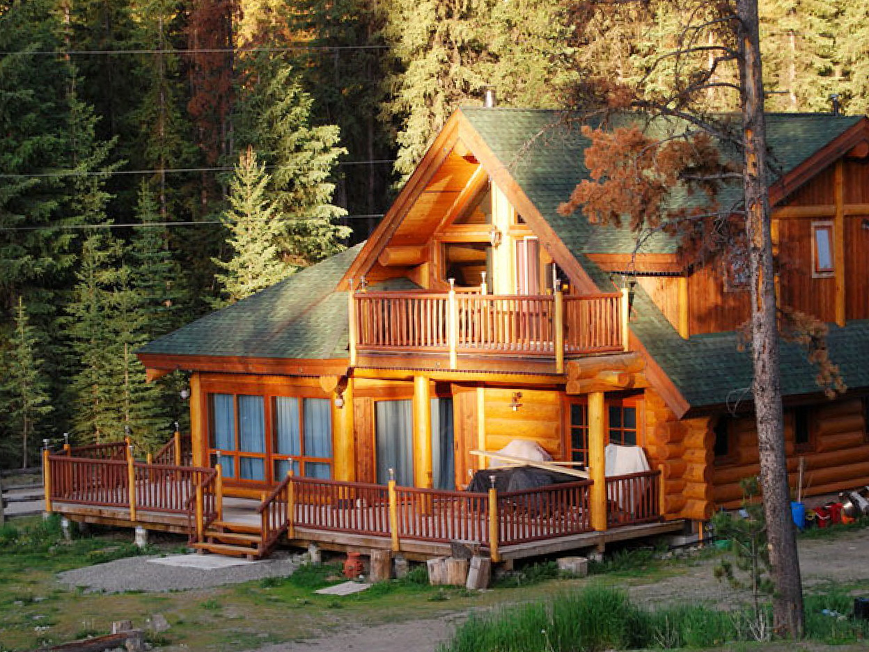 Cabin Porches And Decks Home Design Ideas